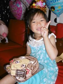 アイカツの顔型 立体ケーキ