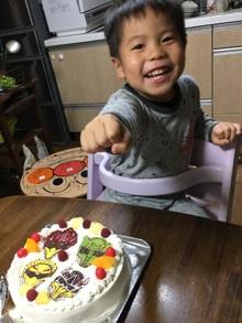 誕生日、キャラクターケーキ