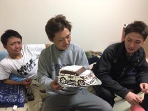 誕生日、愛車の立体ケーキ(2)