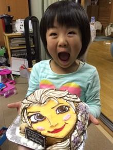 誕生日、顔型立体のキャラクターケーキ