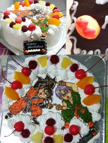 ドラゴンボールのキャラクターケーキ