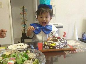 パトカーの立体ケーキ(2)