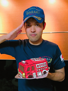 誕生日、消防車の立体ケーキ