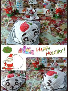 少年アシベのゴマちゃんの立体ケーキ