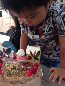 クリスマス、スパイダーマンのキャラクターケーキ