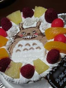 となりのトトロのキャラクターケーキ