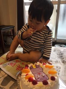 コッシーのキャラケーキ、1歳のお誕生日