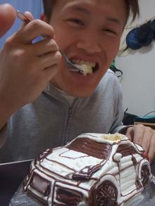 愛車の立体ケーキ、お友達のお誕生日