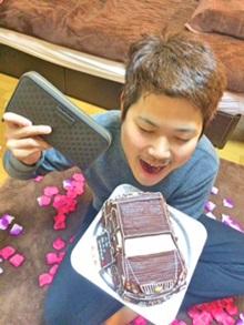 愛車の立体ケーキ、恋人のお誕生日