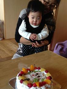 ワンワンのキャラクターケーキ