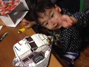 新幹線の立体ケーキ