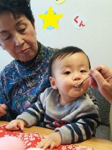 バズライトイヤーのキャラケーキ、1歳の誕生日