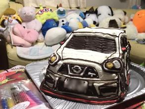誕生日に愛車の立体ケーキをプレゼント