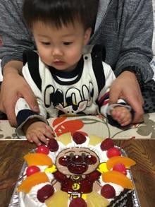 1歳の誕生日、アンパンマンのキャラクターケーキ