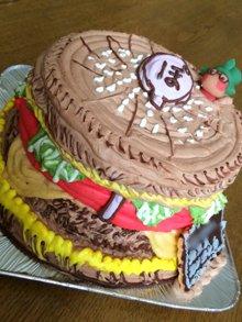 誕生日の豆乳ケーキ、立体ケーキ