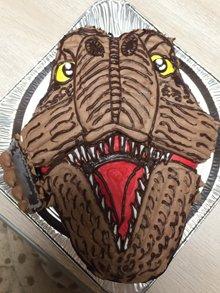 ティラノサウルス、恐竜の立体ケーキ