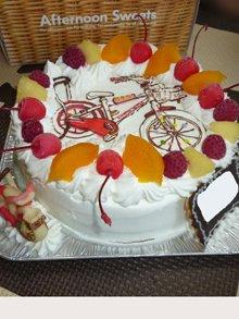 自転車のイラストケーキ