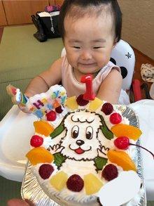 いないいないばぁのワンワンのイラストケーキ