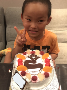 宇宙戦隊キュウレンジャーのシルバーのキャラクターケーキ
