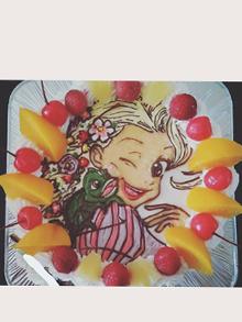 キャラクターのイラストケーキ