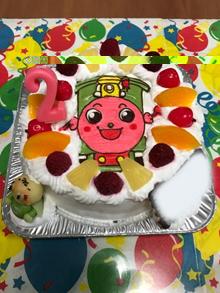 アンパンマンのポッポちゃんのキャラケーキ