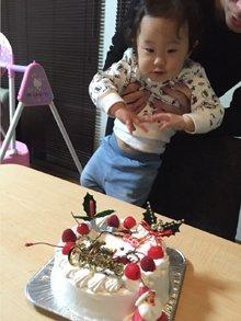 キティちゃんのクリスマスキャラケーキ