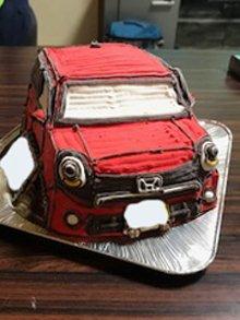 愛車の乗り物立体ケーキ