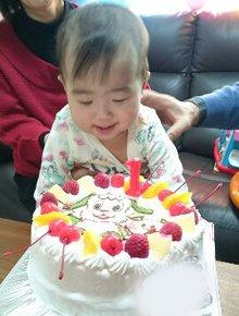 ワンワンうーたんキャラケーキ1歳のお誕生日