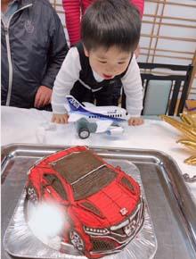 車の立体ケ−キ