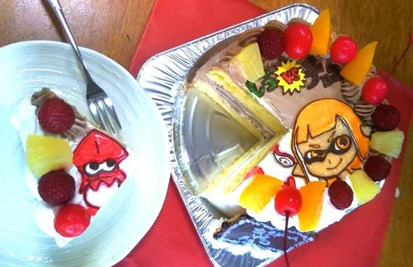 ハーフ&ハーフケーキの断面