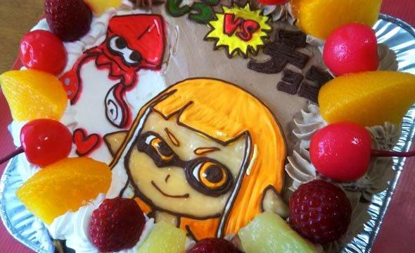 ハーフ&ハーフケーキ、スプラトゥーンのキャラクターケーキ