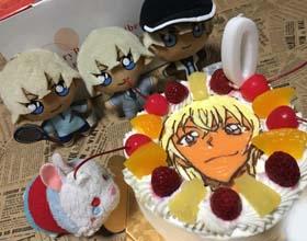 安室透のキャラケーキ、お友達のお誕生日