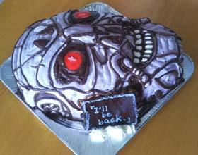 ドクロの顔型立体ケーキ、ハロウィンケーキ