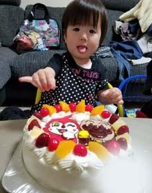アンパンマン・ドキンちゃんのキャラケーキ、お孫さんのお誕生日