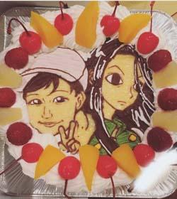 キャラクター・似顔絵ケーキ、お友達のお誕生日