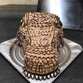 スピノサウルス、恐竜の立体ケーキ