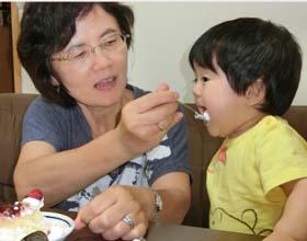 アンパンマンのキャラケーキ、1歳のお誕生日