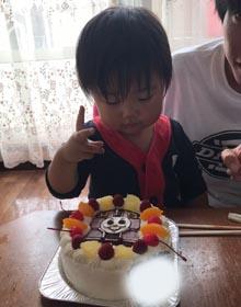 トーマスのキャラケーキ、お子様のお誕生日
