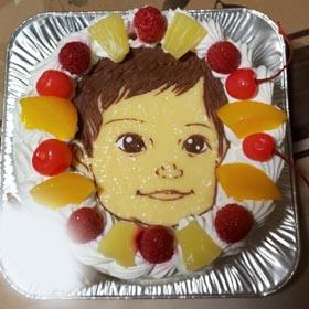 似顔絵ケーキ、1歳のお誕生日