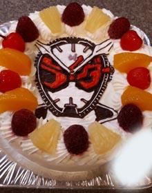 仮面ライダージオウのキャラケーキ、お子様のお誕生日