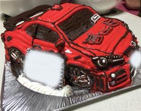 車の立体ケーキ,恋人のお誕生日