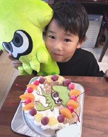 スプラトゥーンのキャラケーキ、お子様のお誕生日
