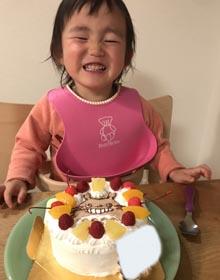 トトロのキャラケーキ、お子様のお誕生日