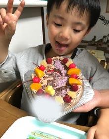 ティラノサウルのキャラケーキ、お子様のお誕生日
