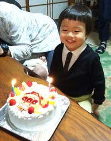 アンパンマンのキャラケーキ、お子様のお誕生日