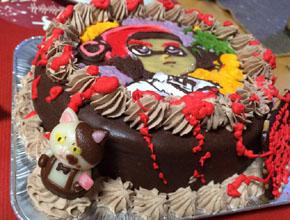 スプラトゥーンのマスコット付きキャラケーキ、ハロウィン仕様