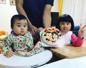 似顔絵ケーキ、お子様のお誕生日