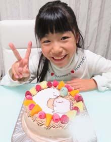すみっコぐらしのマスコット付きキャラケーキ、お子様のお誕生日