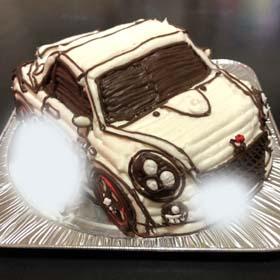 お車の立体ケーキ、恋人のお誕生日