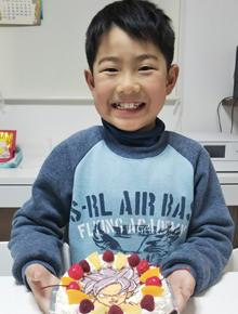 ドラゴンボール、孫悟空SSGSSのイラストケーキ
